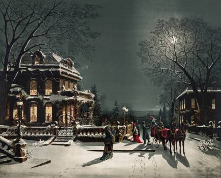 Christmas Eve by Joseph Hoover & Sons Co. Original from The New York Public Library.  #423480