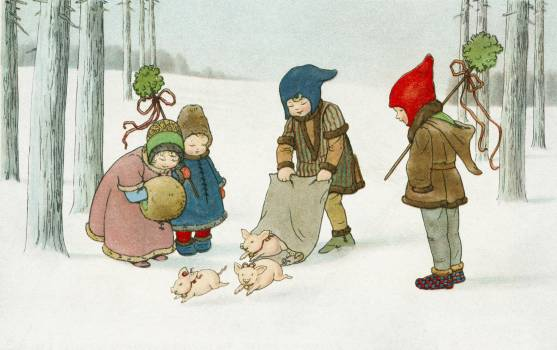 Joyeux Noël! by Pauli Ebner (1873–1949). Original from The New York Public Library.  #423483