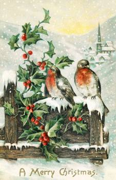 Vintage Christmas Postcard (1906) by P. Sander. Original from The New York Public Library.  #423484