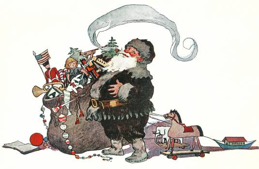 He was chubby and plump, a right jolly old elf by Jessie Wilcox Smith (1863–1935). Original from The New York Public Library.  #423495