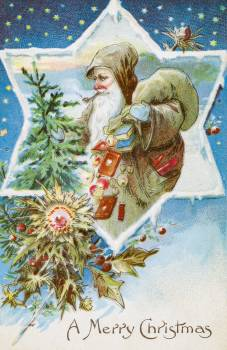 Vintage Christmas Postcard from The Miriam and Ira D. Wallach Division of Art, Prints and Photographs. Original from The New York Public Library.  #423500
