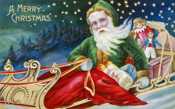 Vintage Christmas Postcard from The Miriam and Ira D. Wallach Division of Art, Prints and Photographs. Original from The New York Public Library.  Free Photo