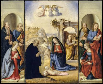 The Nativity with Saints by Ridolfo Ghirlandaio (1483–1561). Original from The MET Museum.  #423524