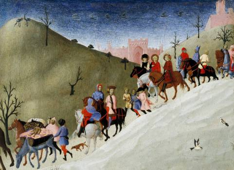 The Journey of the Magi (ca. 1433–35) by Stefano di Giovanni. Original from The MET Museum.  #423525