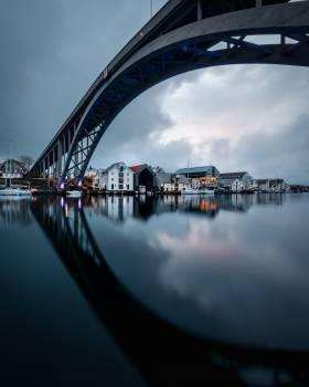 Bridge Steel arch bridge Pier Free Photo