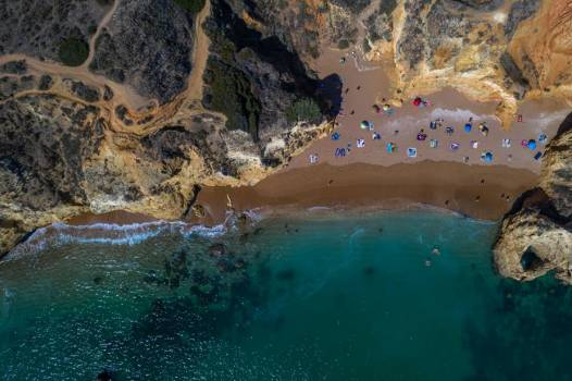 Drone View Of Secluded Beach #423919
