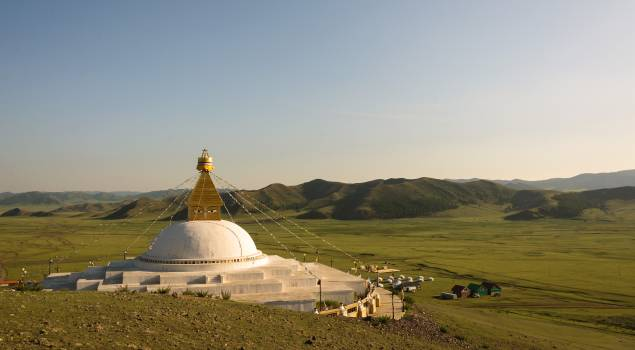 Big White Stupa in Mongolia - Free Image For Commercial Use #424010