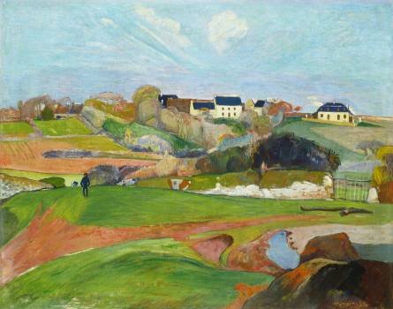 Landscape at Le Pouldu (1890) by Paul Gauguin. Original from The National Gallery of Art.  #424018