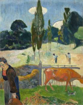 The Red Cow (1889) by Paul Gauguin. Original from the Los Angeles County Museum of Art.  #424021