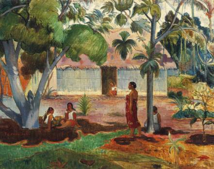 The Large Tree (1891) by Paul Gauguin. Original from The Cleveland Museum of Art.  #424022