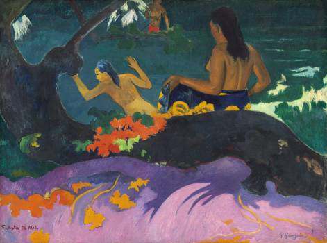 By the Sea (Fatata te Miti) 1892 by Paul Gauguin. Original from The National Gallery of Art.  #424023