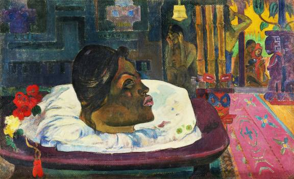 The Royal End (Arii Matamoe) (1892) by Paul Gauguin. Original from The Getty.  #424026