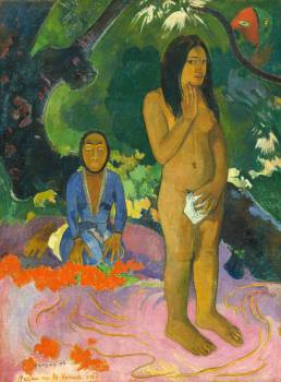 Words of the Devil (Parau na te Varua ino) (1892) by Paul Gauguin. Original from The National Gallery of Art.  #424028