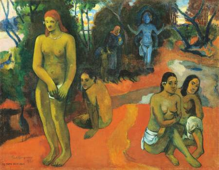 Delectable Waters (Te Pape Nave Nave) (1898) by Paul Gauguin. Original from The National Gallery of Art.  Free Photo