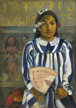 Tehamana Has Many Parents or The Ancestors of Tehamana (Merahi metua no Tehamana) (1893) by Paul Gauguin. Original from The Art Institute of Chicago.  #424034