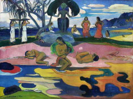 Day of the God (Mahana no atua) (1894) by Paul Gauguin. Original from The Art Institute of Chicago.  #424038