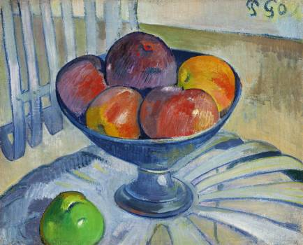 Fruit Dish on a Garden Chair (ca. 1890) by Paul Gauguin. Original from the Los Angeles County Museum of Art.  #424040