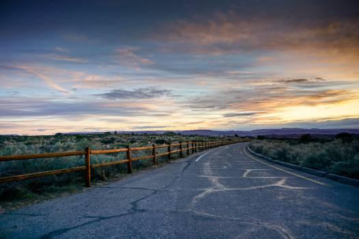 Railing Road Landscape #424046