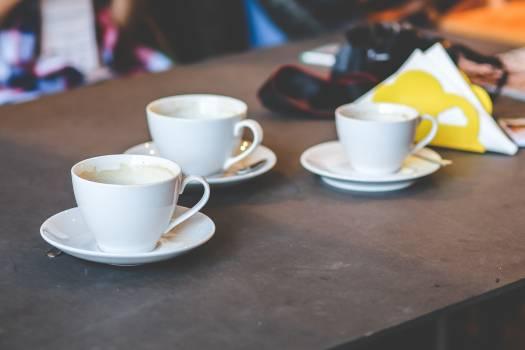 Three white cups #42429