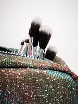 Paint Brushes Burst From A Glittery Handbag #424544