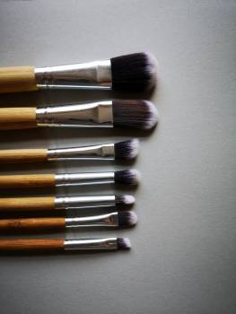 Make-up Brushes In A Line #424648