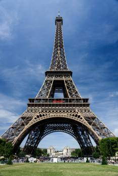 Worms View of Eiffel Tower during Daytime Free Photo