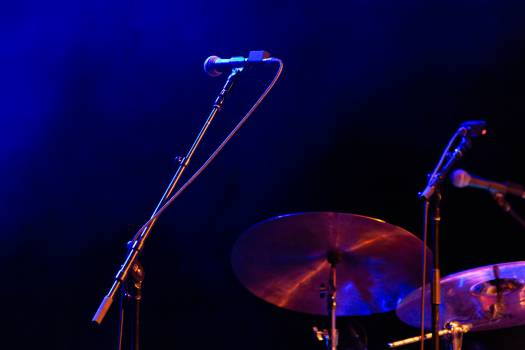 Microphone Drums Stage Free Photo Free Photo