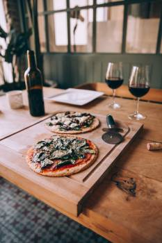 Pizza Wine Dinner Free Photo Free Photo