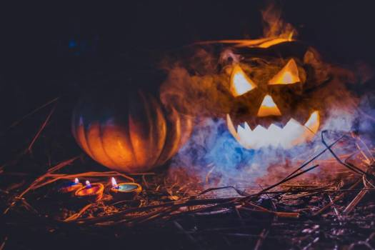 Spooky Pumpkins With Smoke #425256