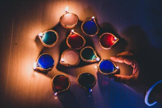 Colorful Diwali Candles #425257