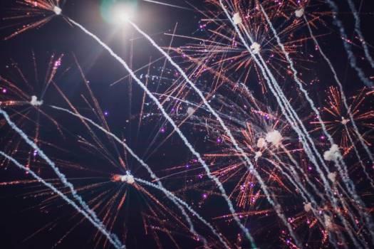 Fireworks Streaking Across Black Sky #425275