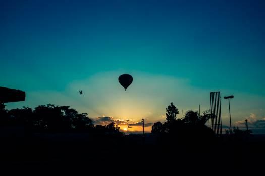 Hot Air Balloon during Sunset #42538