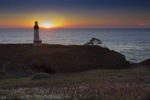 Lighthouse Sunset Free Photo Free Photo