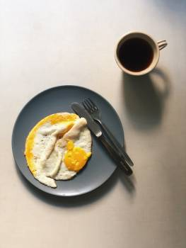 Fried Eggs And Black Coffee #425528