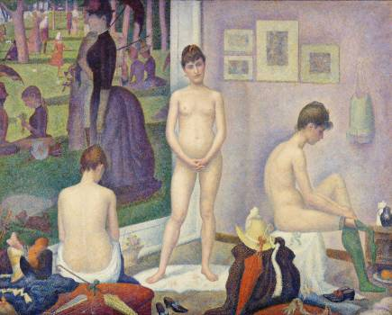 Models (Poseuses) (ca. 1886–1888) by Georges Seurat. Original from Barnes Foundation.  Free Photo