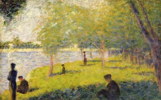Study for a Sunday on La Grande Jatte (1884) by Georges Seurat. Original from The MET Museum.  #425601