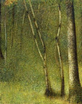 The Forest at Pontaubert (1881) by Georges Seurat. Original from The MET Museum.  Free Photo