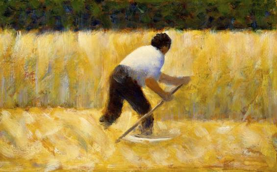 The Mower (ca. 1881–1882) by Georges Seurat. Original from The MET Museum.  #425603