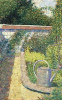 The Watering Can–Garden at Le Raincy (ca. 1883) by Georges Seurat. Original from The National Gallery of Art.  #425605