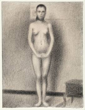 Study for Poseuses (ca. 1886–1887) by by Georges Seurat. Original from The MET Museum.  #425606