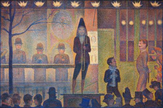 Circus Sideshow (ca. 1887–1888) by Georges Seurat. Original from The MET Museum.  Free Photo