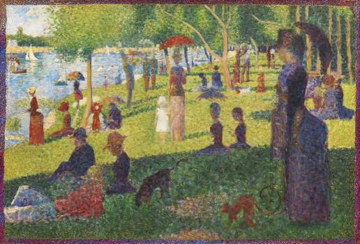 Study For a Sunday on La Grande Jatte (1884) by Georges Seurat. Original from The MET Museum.  Free Photo
