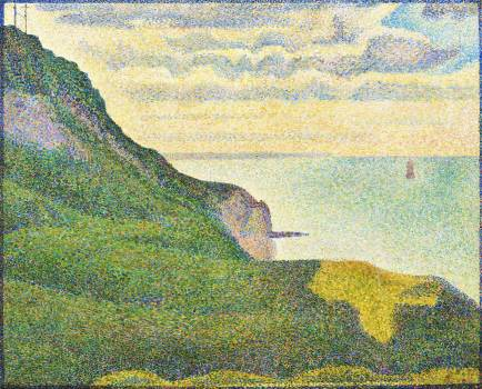 Seascape at Port-en-Bessin, Normandy (1888) by Georges Seurat. Original from The National Gallery of Art.  Free Photo