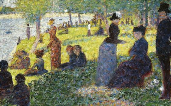 "Oil Sketch for ""La Grande Jatte"" (1884) by Georges Seurat. Original from The Art Institute of Chicago.  #425615"