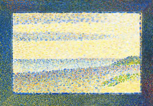 Seascape (Gravelines) (1890) by Georges Seurat. Original from The National Gallery of Art.  #425616