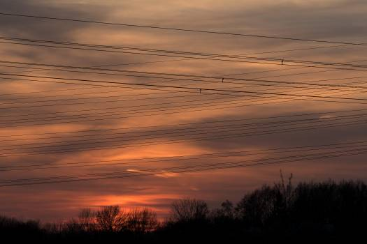 Electric Wires at Sunset - Free Image For Commercial Use #425658