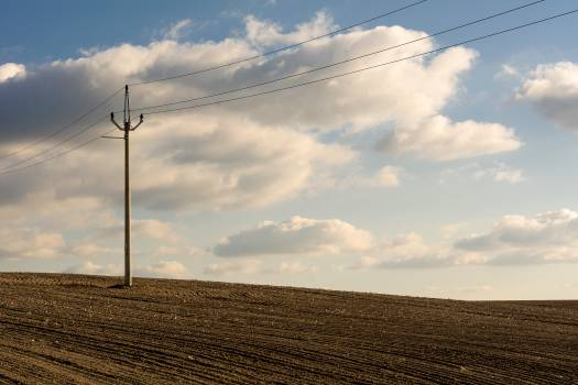 Electric Pole in the Plowed Field - Free Image For Commercial Use #425659