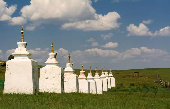 Buddhist Stupas in Mongolian Steppe - Free Image For Commercial Use #425936