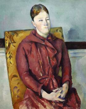 Madame Cézanne in a Yellow Chair (ca. 1888–1890) by Paul Cézanne. Original from The Art Institute of Chicago.  Free Photo
