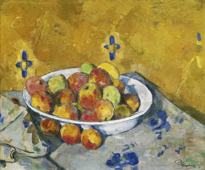 The Plate of Apples (ca. 1887) by Paul Cézanne. Original from The Art Institute of Chicago.  #426005